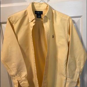 Ralph Lauren Yellow long sleeve button up shirt